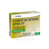 Citrate De Bétaïne Upsa 2 G Comprimés Effervescents Sans Sucre Menthe édulcoré à La Saccharine Sodique T/20 à Andernos