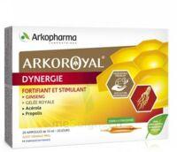Arkoroyal Dynergie Ginseng Gelée Royale Propolis Solution Buvable 20 Ampoules/10ml à Andernos