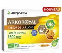 Arkoroyal Gelée Royale Bio Sans Sucre 1500mg Solution Buvable 20 Ampoules/10ml à Andernos