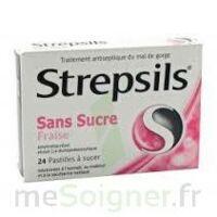 Strepsils Fraise Sans Sucre, Pastille édulcorée à L'isomalt, Au Maltitol Et à La Saccharine Sodique à Andernos