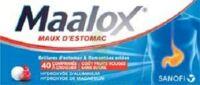 Maalox Maux D'estomac Hydroxyde D'aluminium/hydroxyde De Magnesium 400 Mg/400 Mg Sans Sucre Fruits Rouges, Comprimé à Croquer édulcoré à La Saccharine Sodique, Au Sorbitol Et Au Maltitol à Andernos