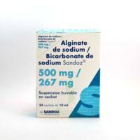 Alginate De Sodium/bicarbonate De Sodium Sandoz 500 Mg/267 Mg, Suspension Buvable En Sachet à Andernos
