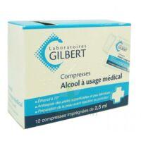Alcool A Usage Medical Gilbert 2,5 Ml Compr Imprégnée 12sach à Andernos