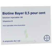 Biotine Bayer 0,5 Pour Cent, Solution Injectable I.m. à Andernos