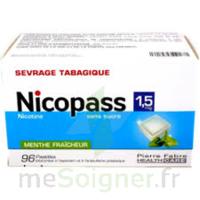 Nicopass 1,5 Mg Pastille Sans Sucre Menthe Fraîcheur Plq/96 à Andernos