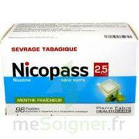 Nicopass 2,5 Mg Pastille Menthe Fraîcheur Sans Sucre Plq/96 à Andernos