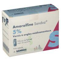 Amorolfine Sandoz 5 % V Ongles Médicamenteux Fl/2,5ml+20spatules à Andernos