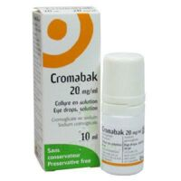 Cromabak 20 Mg/ml, Collyre En Solution à Andernos