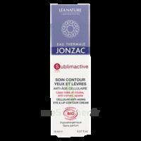 Jonzac Eau Thermale Sublimactive Crème Soin Contour Yeux Lèvres Jeunesse Immédiate 15ml à Andernos